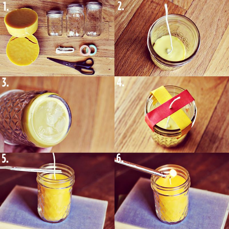 How to make beeswax candles at home - making beeswax candles