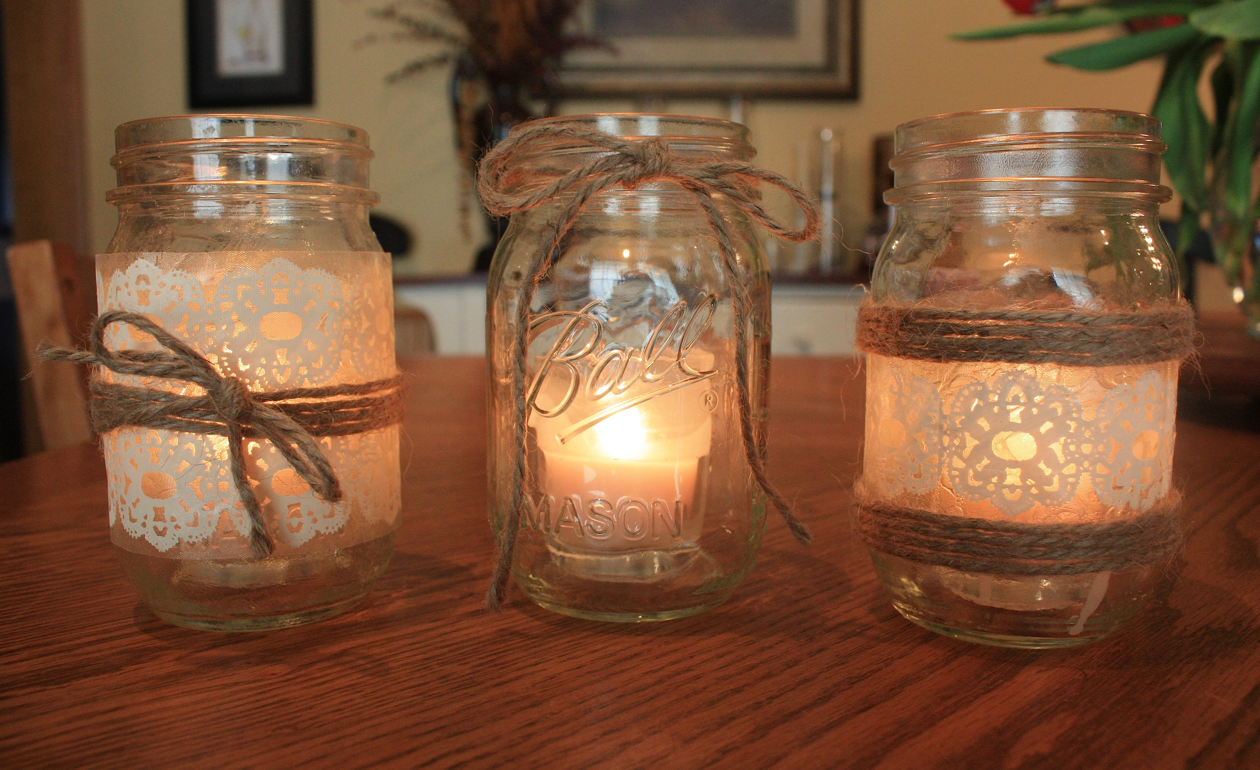 Decorating Candle Jars How to make Candles in a Jar Candles in mason jar 13