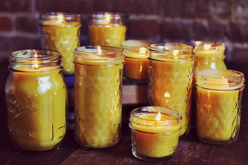 homemade beeswax scented candles